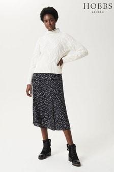 Hobbs Black Ivory Annette Skirt