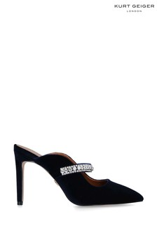 Kurt Geiger London Blue Duke Velvet Heel Shoes