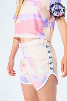 Hype. Kids Peach Taped Spray Runner Shorts