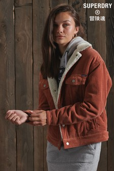 Superdry Cord Boyfriend Sherpa Jacket