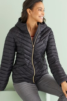 Black Maternity Packable Jacket