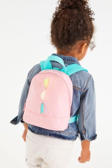 Pink Character Rucksack With Reins