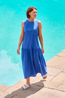 Cobalt Emma Willis Tiered Midi Dress