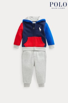Ralph Lauren Navy Colourblock Tracksuit Set