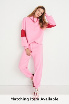 Pink Supersoft Knitted Joggers