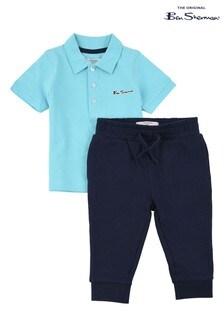 Ben Sherman® Blue Romford Poloshirt And Joggers Set