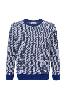 Boys Blue Wool Jumper