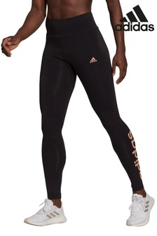 adidas Black Linear Logo Leggings