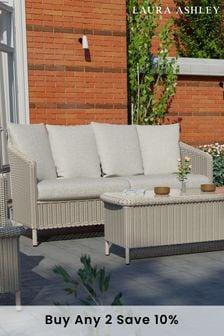 Saunton Dove Grey Arley Outdoor Lounging Sofa by Laura Ashley