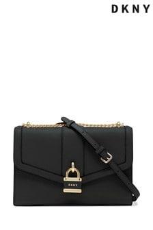 DKNY Black Ella Leather Shoulder Bag