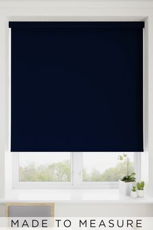 Haig Midnight Blue Made To Measure Blackout Roller Blind