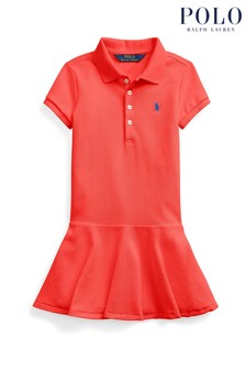 Ralph Lauren Red Logo Polo Dress