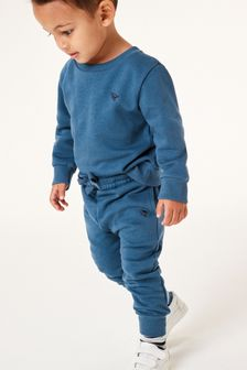 Mid Blue Crew and Joggers Jersey Set (3mths-7yrs)