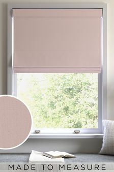 Cotton Dusky Pink Made To Measure Roman Blind