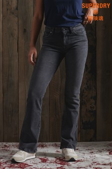 Superdry Mid Rise Slim Flare Jeans