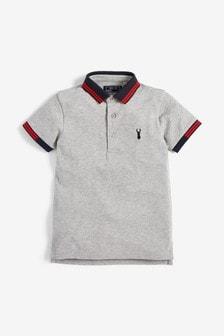 Grey Marl Tipped Poloshirt (3-16yrs)