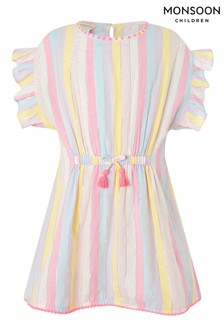 Monsoon Pink Stripe Print Kaftan