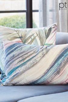 Heartwood Cerulean Feather Cushion by Prestigious Textiles