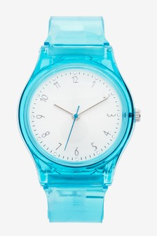 Turquoise Transparent Strap Watch