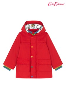 Cath Kidston® Red Kids Rain Mac Solid Coat