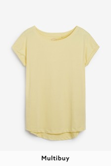 Yellow Cap Sleeve T-Shirt