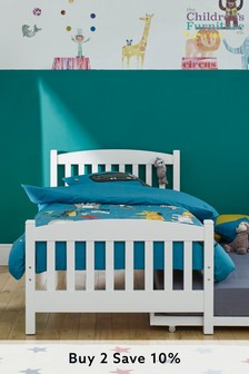 Snowy Single Bed With Trundle By The Childrens Furniture Company