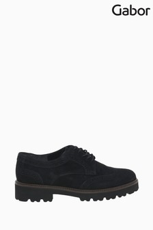 Gabor Sweep Black Suede Fashion Casual Shoes