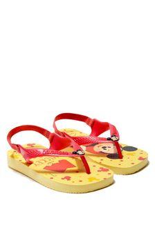 Havaianas Baby Boys Yellow Mickey Mouse Flip Flops