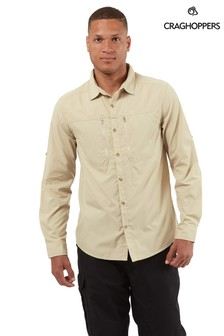 Craghoppers Grey Kiwi Boulder Long Sleeve Shirt