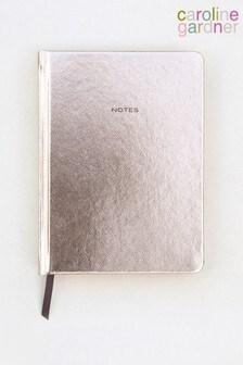 Caroline Gardner Rose Gold Metallic Hardback Notebook