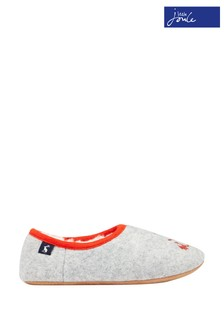 Joules Grey Junior Slippet Felt Mule Slippers