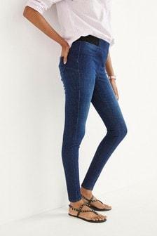 Dark Blue Lift, Slim & Shape Denim Leggings