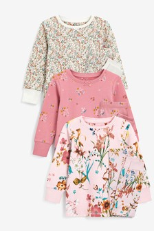Pink Floral 3 Pack Pyjamas (9mths-16yrs)