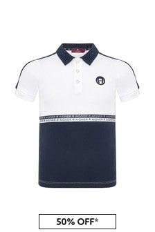 Aigner Boys Navy Cotton Poloshirt