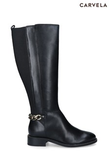 Carvela Black Shell High Boots