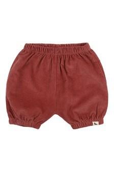 Turtledove London Cord Bloomers Brick Shorts