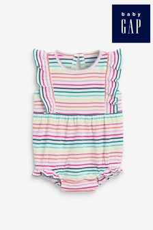 Gap Baby Multi Stripe Ruffle Romper