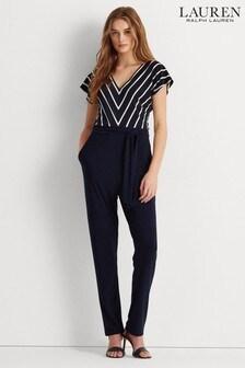 Lauren Ralph Lauren® Navy Stretch Deirdre Jumpsuit