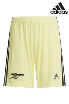 adidas Yellow Arsenal Kids Away 21/22 Football Shorts