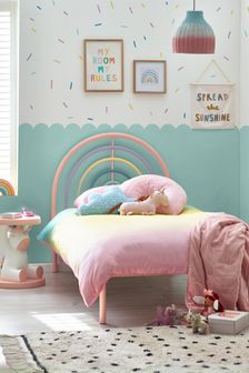 Rainbow Magical Ombre Glitter Duvet Cover And Pillowcase Set