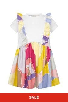 Emilio Pucci Girls Purple Cotton Dress