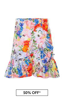 Girls Multicoloured Cotton Skirt