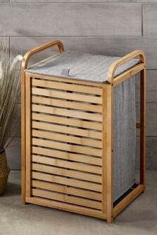 Antibacterial Bamboo Laundry Hamper