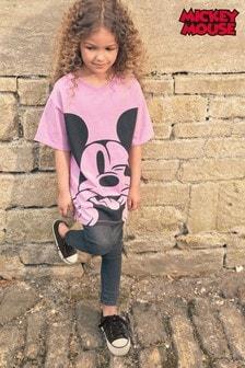 Lilac Mickey Face T-Shirt (3-16yrs)
