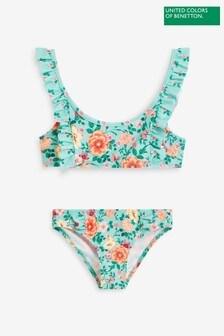 Benetton Blue Floral Bikini