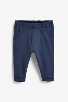 Navy Jersey Chinos (0mths-2yrs)