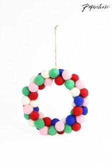 Paperchase Pom Pom Wreath
