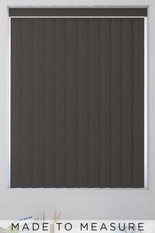 Room Darkening Zinc Brown Made To Measure Vertical Blind