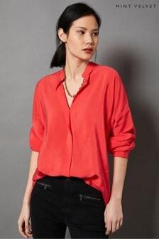 Mint Velvet Pink Oversized Longline Shirt