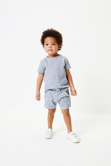 Blue T-Shirt And Shorts Set (3mths-7yrs)